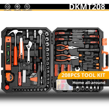 Load image into Gallery viewer, DEKO Hand Tool Set General Household Repair Hand Tool Kit with Plastic Toolbox Storage Case Socket Wrench Screwdriver Knife