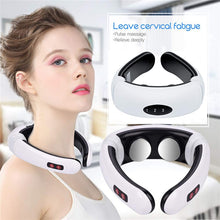 Load image into Gallery viewer, Electric pulse back and neck massager far infrared heating pain relief tool healthcare relaxation