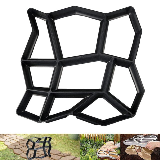 2020 new Floor Path Maker Mould Concrete Mold Reusable DIY Paving Durable Plastic Making for Home Garden Lawn
