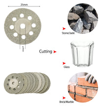 Load image into Gallery viewer, 32pcs Circular Saw Blades Wood grass cutting machine Disc Woodworking Diamond Metal Dremel Drill Rotary Cutting Tool Power Tools Accessories