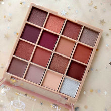 Load image into Gallery viewer, eyes dancing makeup 16color glitter eyeshadow eye shadow palette waterproof eye sombra shimmer beauty glazed make up plate