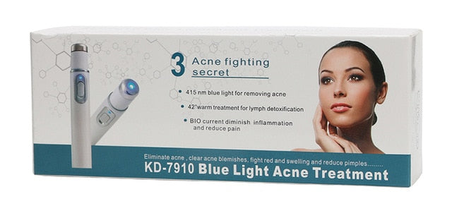 Acne Laser Pen Portable Wrinkle Removal Machine Durable Soft Scar Remover Device Blue Light Therapy Pen Massage Relax KD-7910