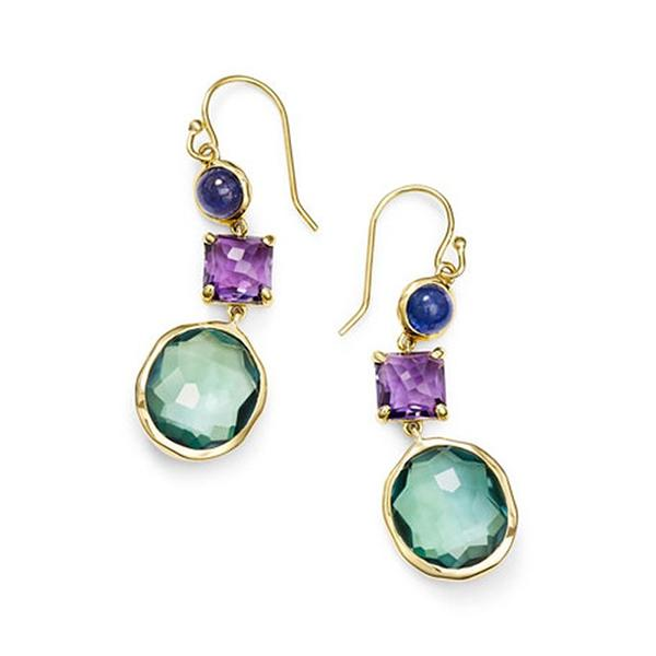 Beautiful Geometric Shape  Birthstone Women Earrings Jewelry