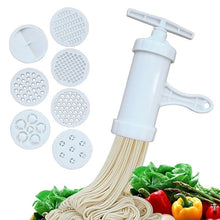 Load image into Gallery viewer, Manual Stainless Steel Noodle Maker Press Pasta Machine Crank Cutter Fruits Juicer Cookware Making Spaghetti Tools WY411