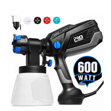 Load image into Gallery viewer, 600W Spray Gun Paint Sprayer Electric 4 Nozzle Sizes HVLP Household 1000ml Flow Control Airbrush Easy Spraying by PROSTORMER