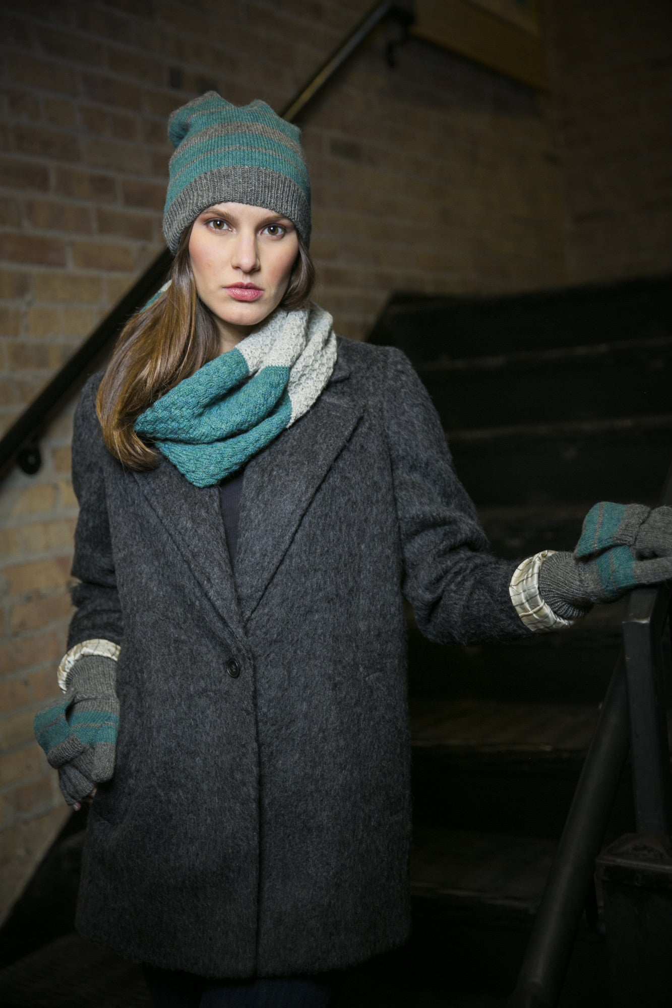 Ethical Alpaca Knit Cowl Scarves
