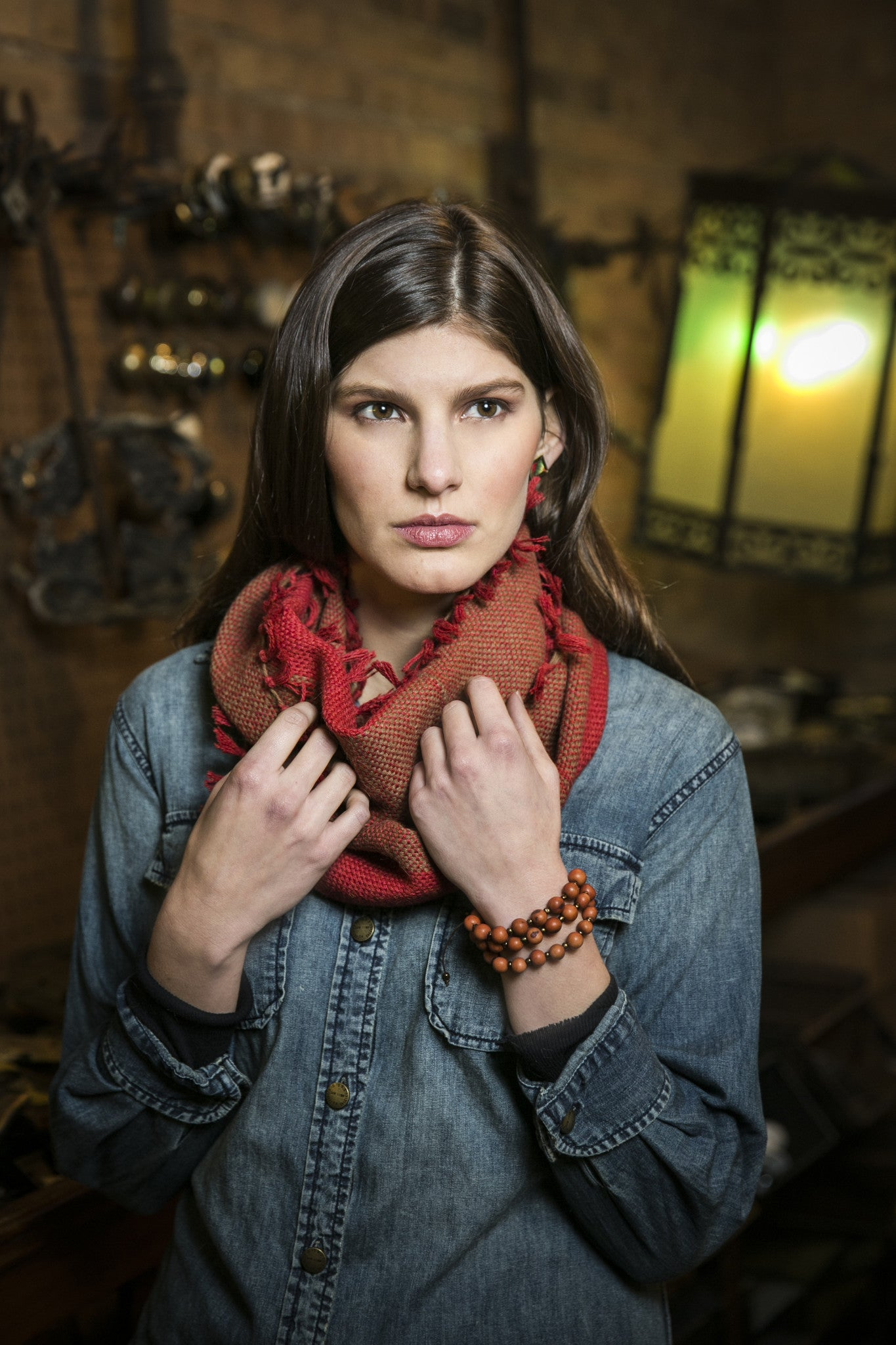 Fair Trade Alpaca Infinity Tassel Scarves