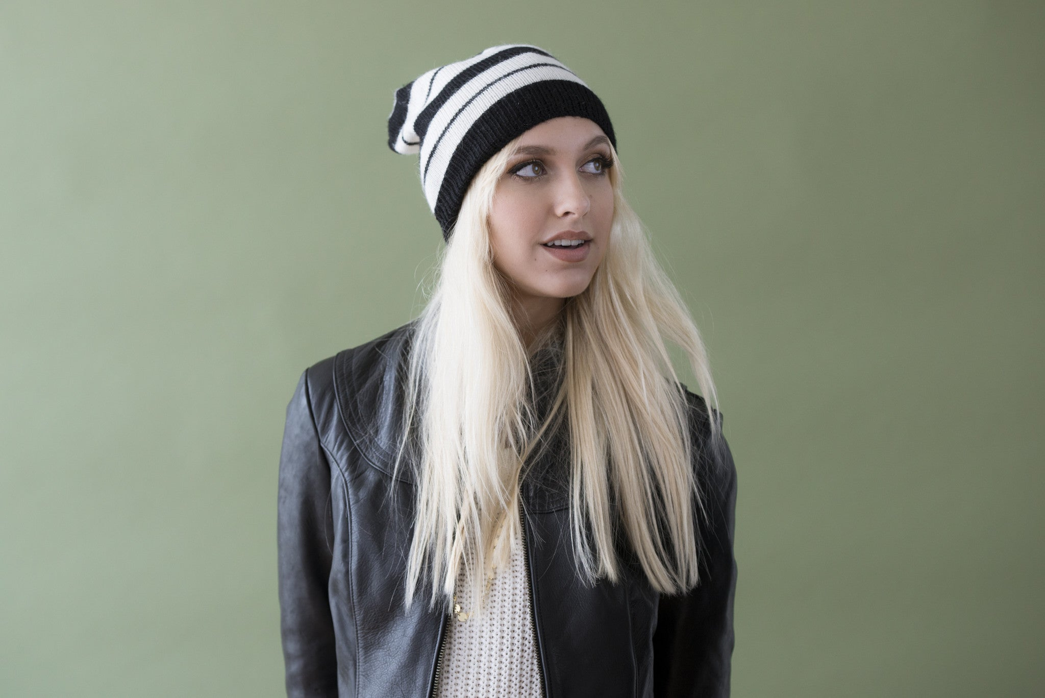 Anna Hat Black + Cream