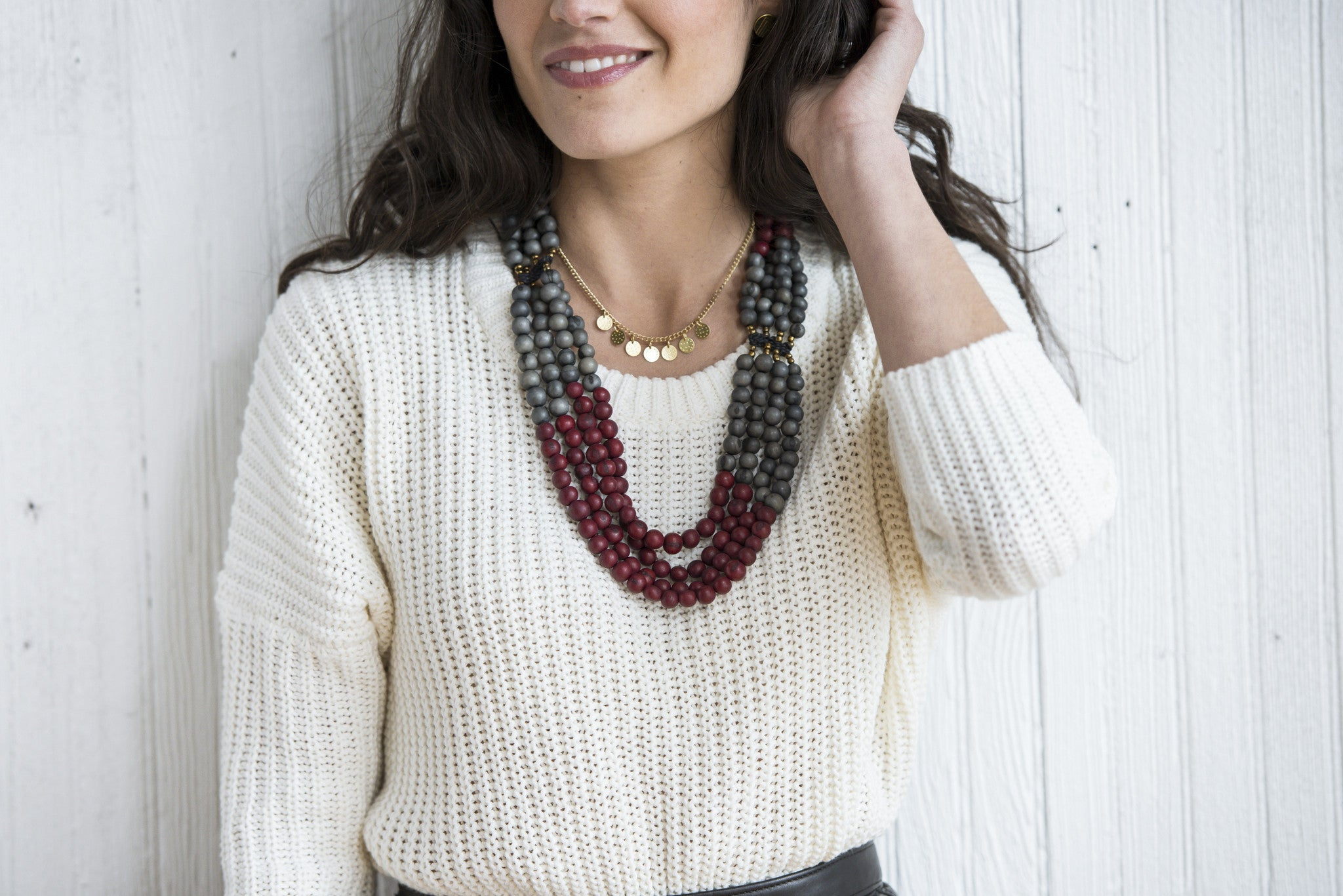 Mamani Necklace Indigo/Black Cherry