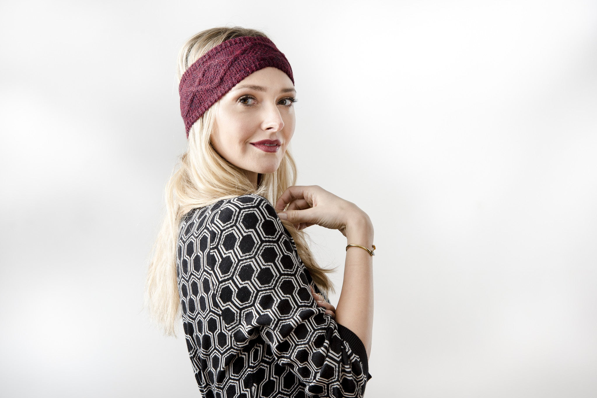Karina Headband Burgundy