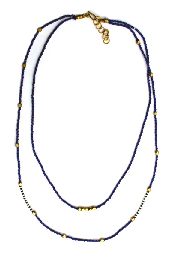 Abdi Masaai Necklace Navy Blue