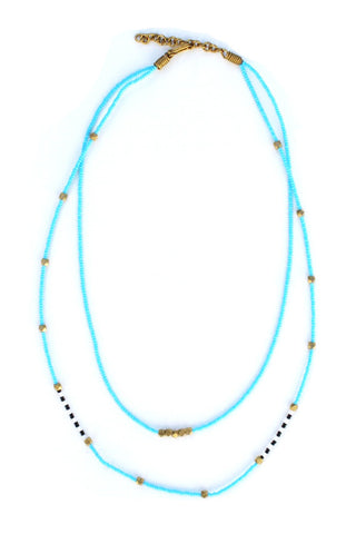 Abdi Masaai Necklace Light Blue