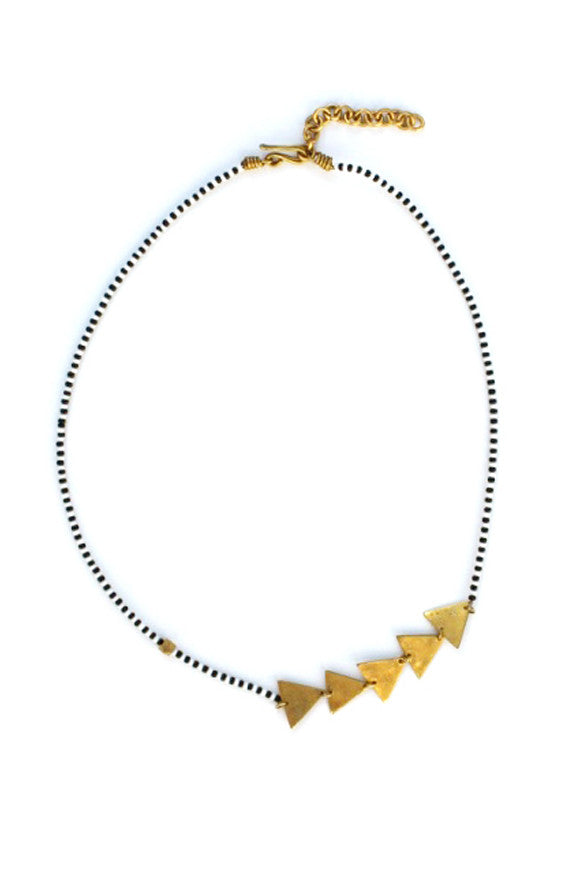 Afram Geo Masaai Necklace Black + White