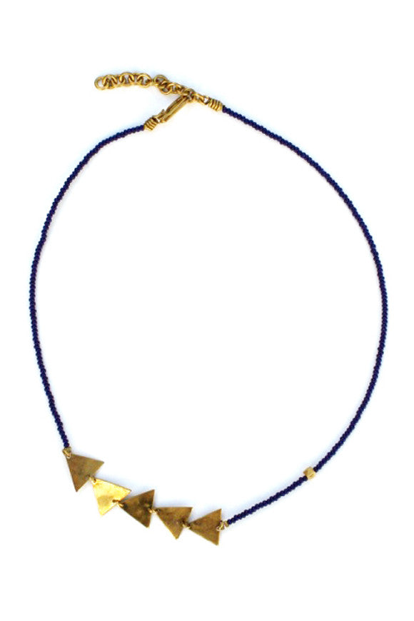 Afram Geo Masaai Necklace Navy