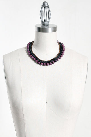 Fair Trade Acai Benatar Necklace Purple