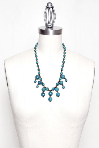 Fair Trade Miki Necklace Blue