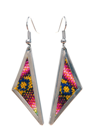 Repurposed Fabric Pacheco Earrings