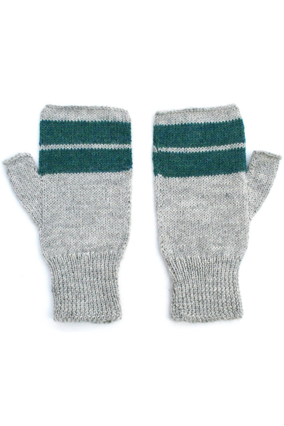Anna Handwarmers Soft Gray + Teal