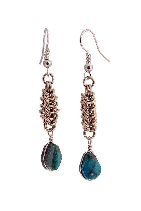 Greenola Style Bolivian Stone Earrings