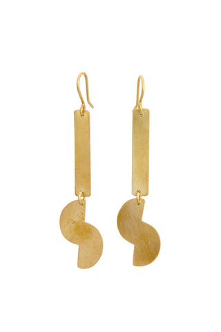 Fair Trade Brass Belle Earrings Greenola Style