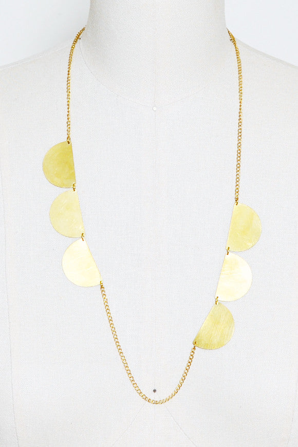 Fair Trade Brass Lou Necklace
