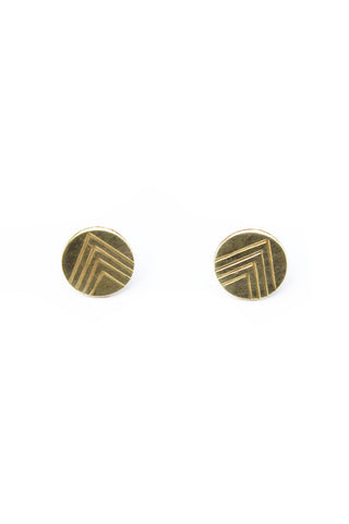 Manuela Bronze Stud Earrings
