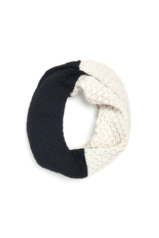 Emma Cowl Scarf Black + Cream