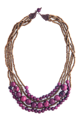 Fair Trade Acai Seed Bernadette Necklace
