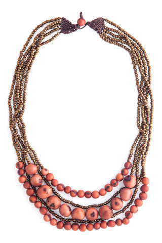 Ethical Bernadette Necklace Golden Brown