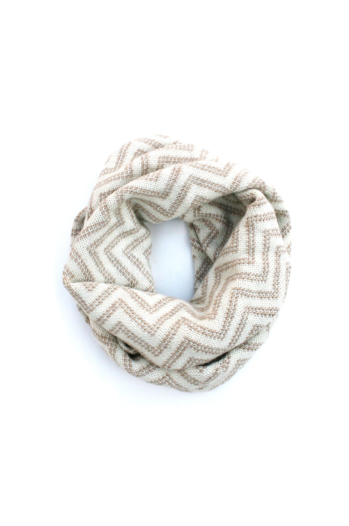 Lilith Infinity Scarf Beige + Cream