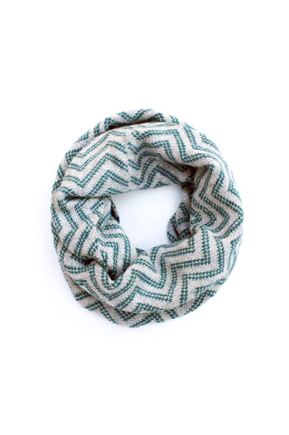 Lilith Infinity Scarf  Teal + Soft Gray