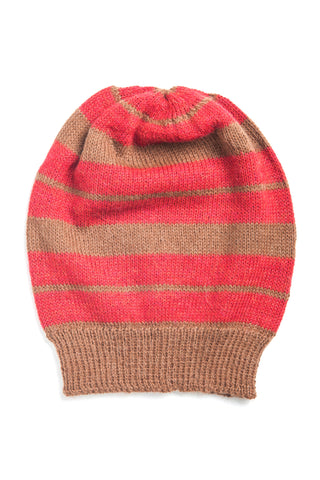 Fair Trade Anna Hat Tan + Red