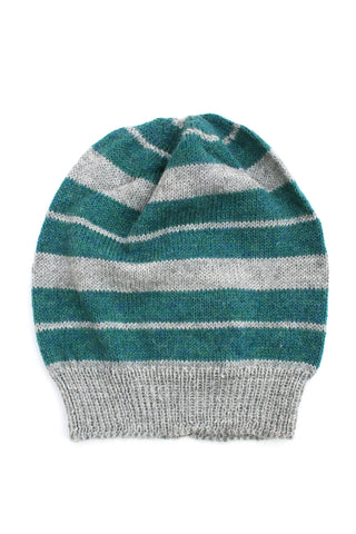 Anna Hat Soft Gray + Teal
