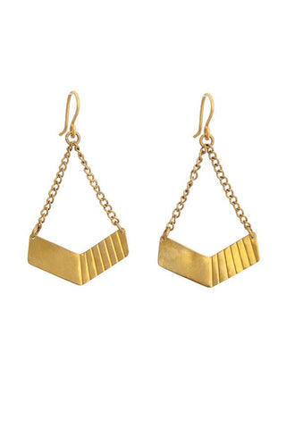 Fair Trade Brass Hopper Earrings