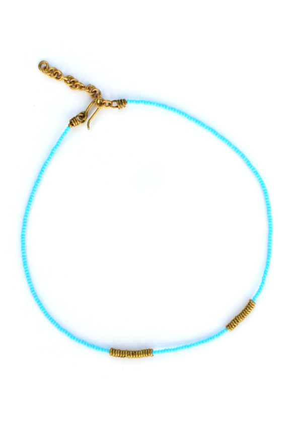 Imani Masaai Necklace Light Blue