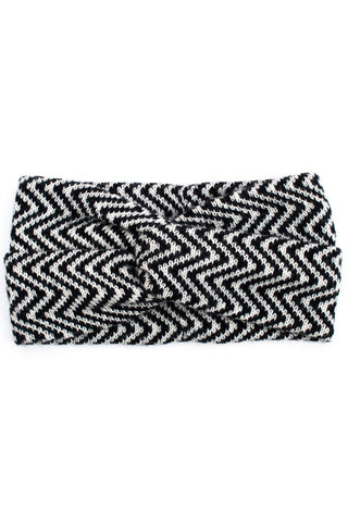 Ingrid Headband Black + Cream