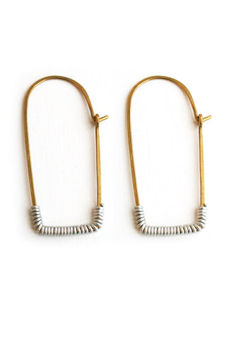 Handmade Brass Kitale Earrings