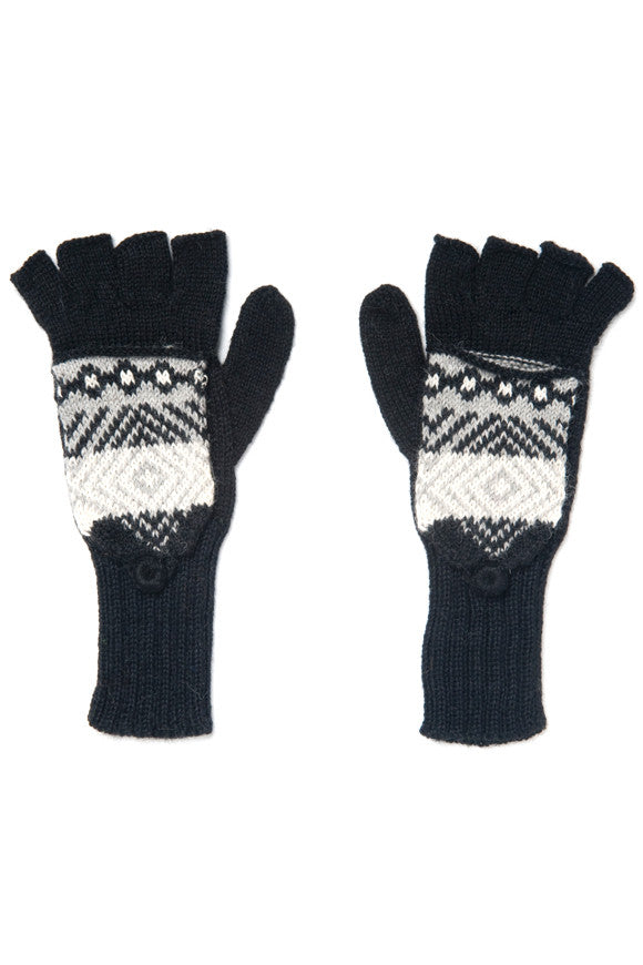 Fair Trade Alpaca Lars Glittens Black