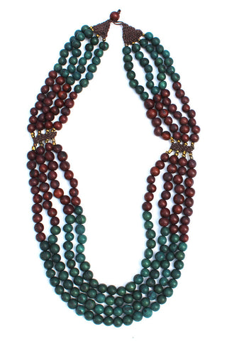 Mamani Necklace Teal/Brown