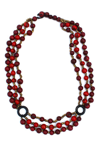 Manuela Necklace Red/Burgundy