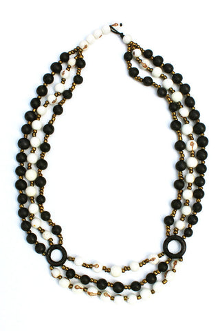 Manuela Necklace Black/Natural