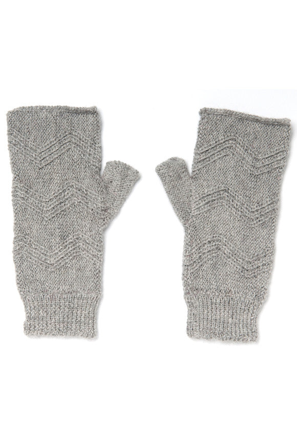 Ethical Alpaca Maria Handwarmers Gray