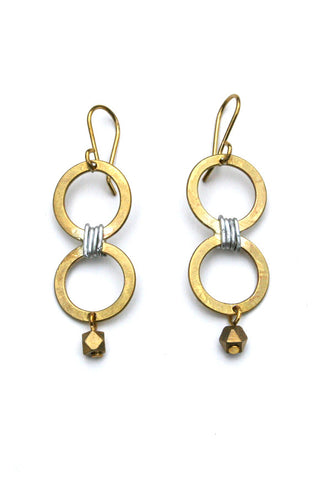 Ethical Migori Brass Earrings