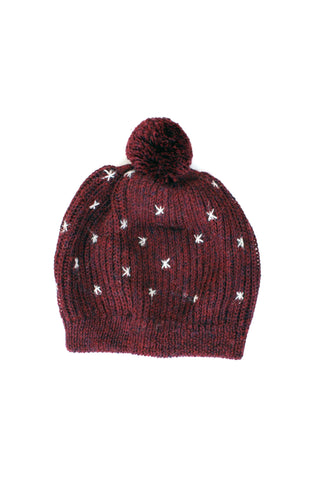 Avery Hat Burgundy + Soft Gray