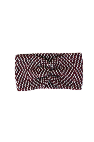 Jewel Headband Burgundy + Soft Gray
