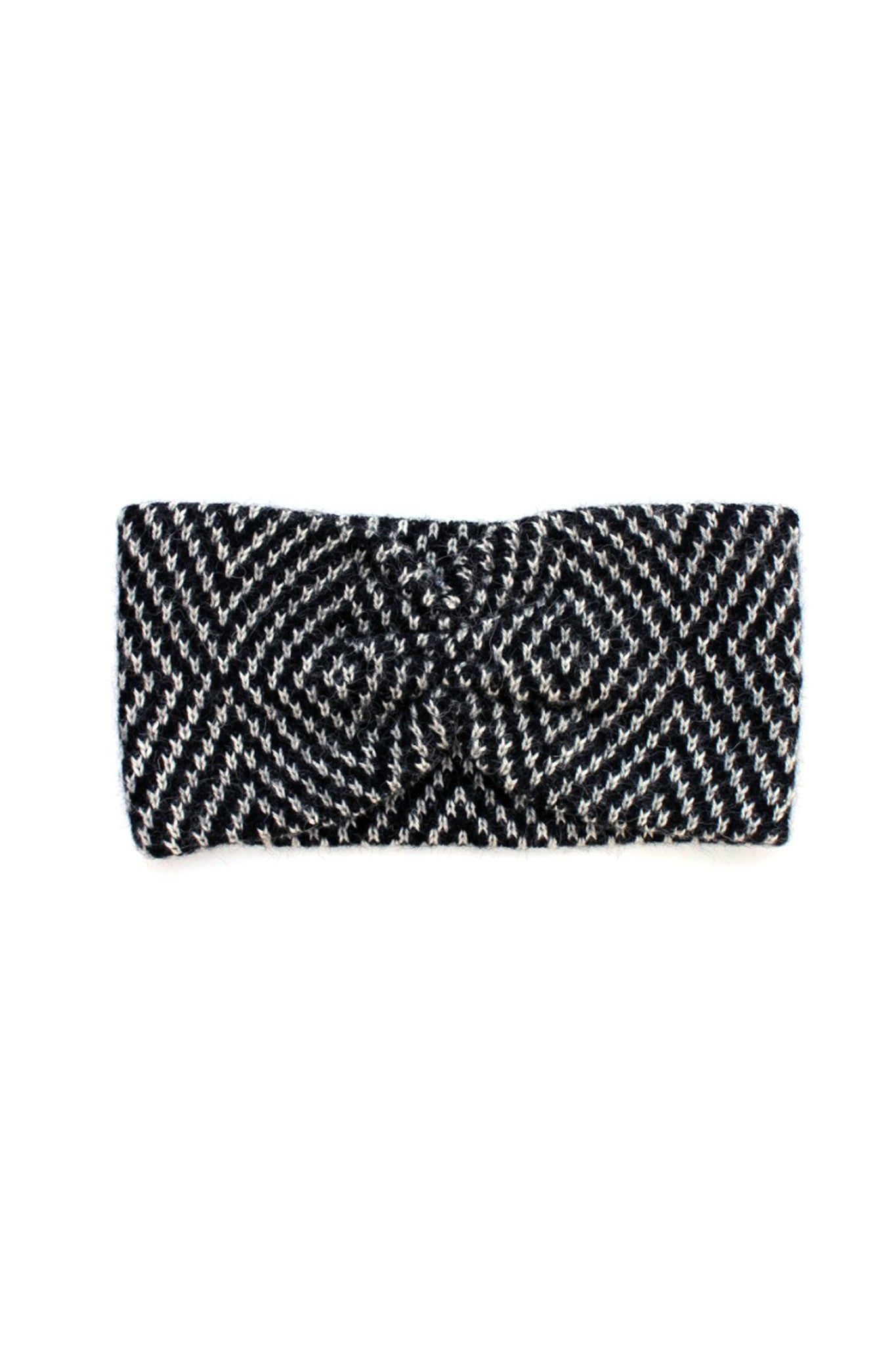 Jewel Headband Black + Cream