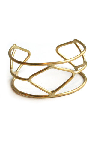 Fair Trade Brass Nakuru Cuff Greenola