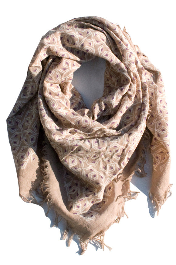 Fair Trade Blockprint Scarves Nanda
