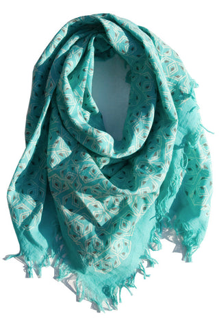 Ethical Nanda Block Print Square Scarf