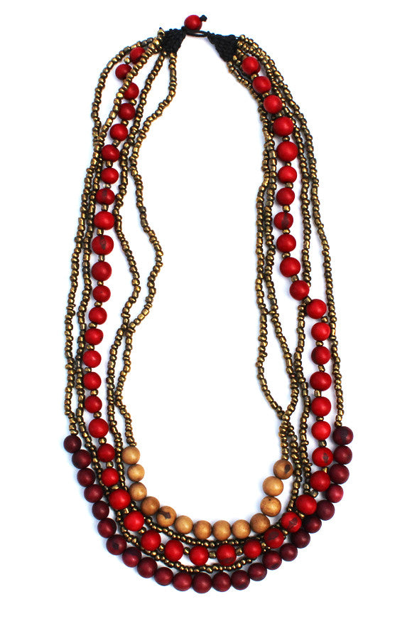 Tupiza Necklace Red Mix